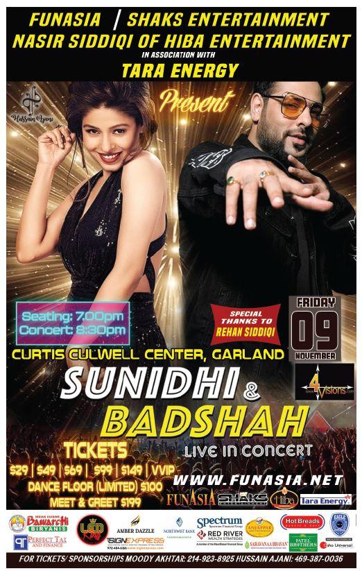 Sunidhi & Badshah live in concert