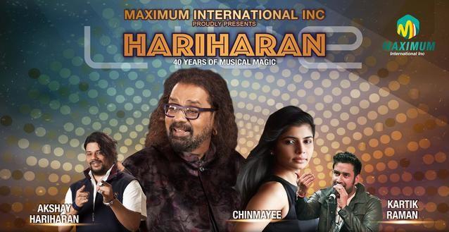 HARIHARAN Live with CHINMAYI and KARTIK RAMAN