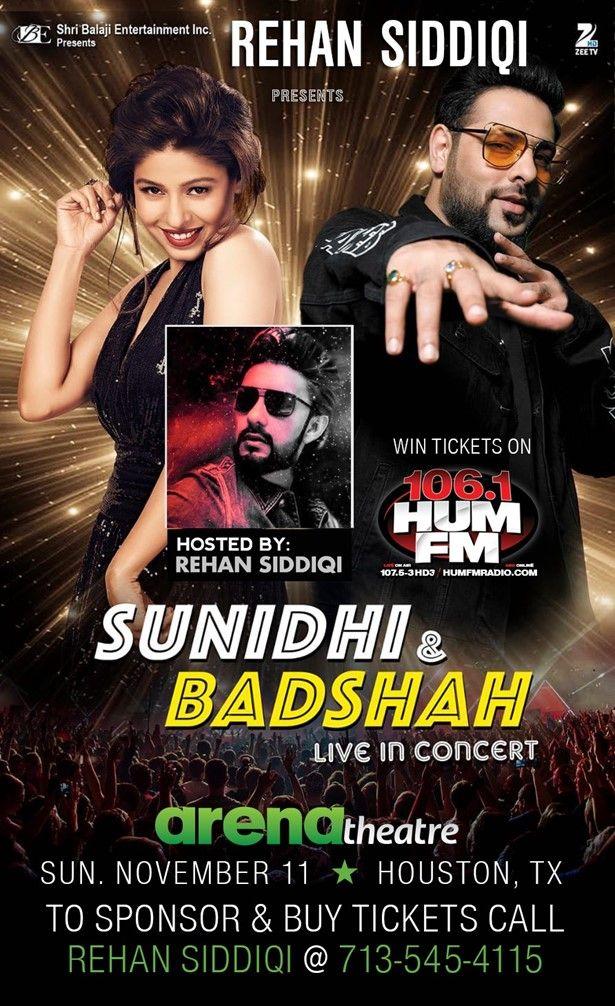 BADSHAH - Sunidhi Chauhan Live In Concert - Houston
