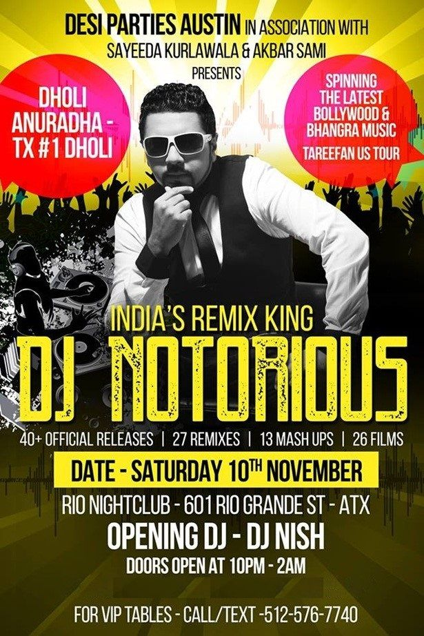 Tareefan - Bollywood Dance Party with DJ NOTORIOUS