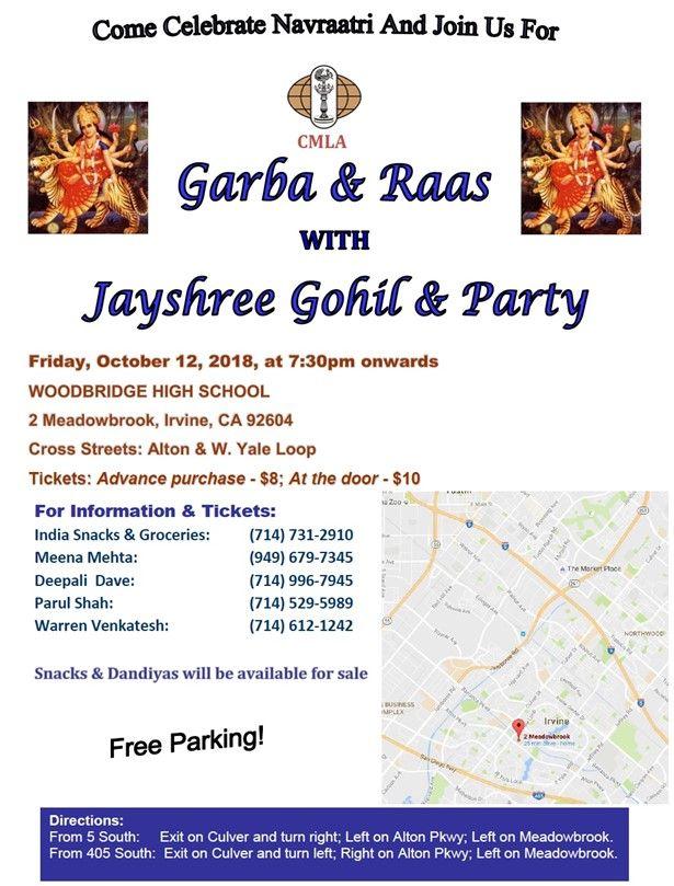 Navratri Raas-Garba with Jayshree Gohil & Party