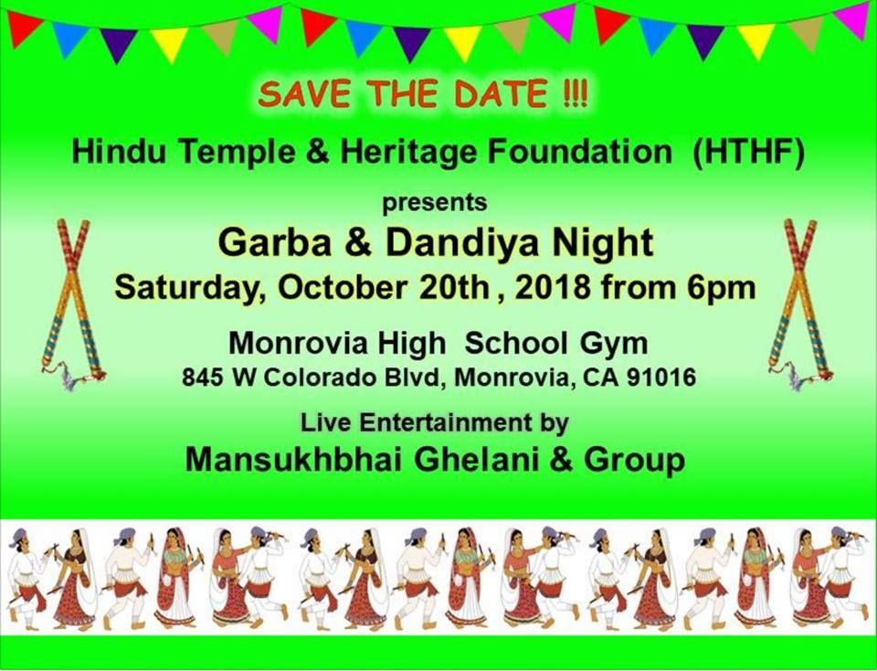 HTHF Garba and Dandiya Night 2018
