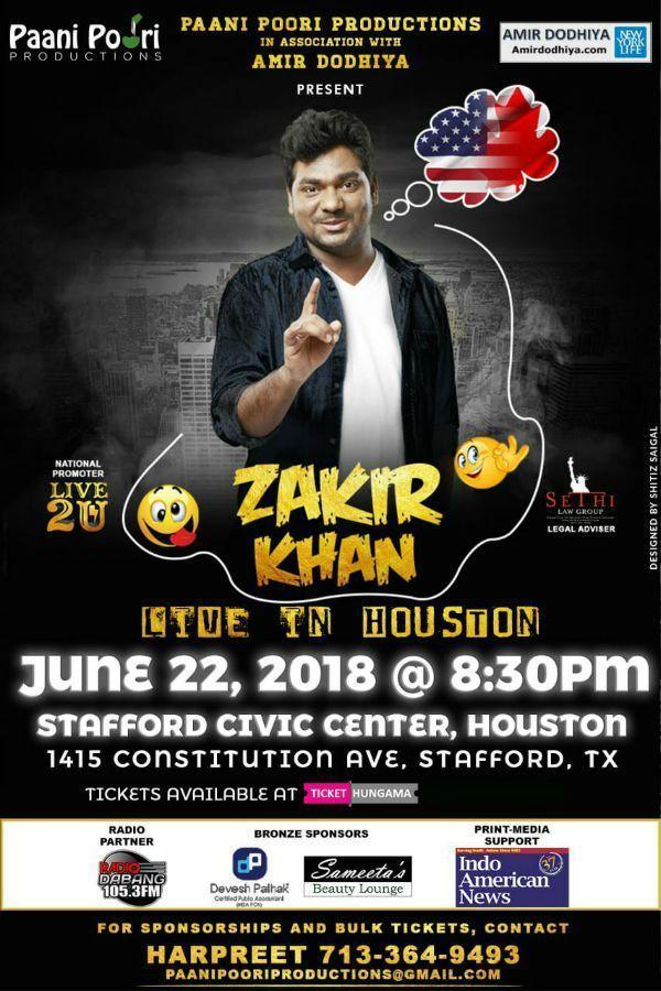 Zakir Khan Stand Up Comedy