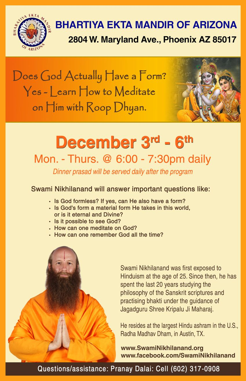 Meditation Workshop by Swami Nikhilsnand Ji