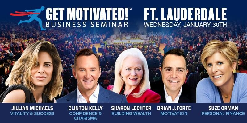 Suze Orman, Jillian Michaels, Clinton Kelly LIVE Ft Lauderdale