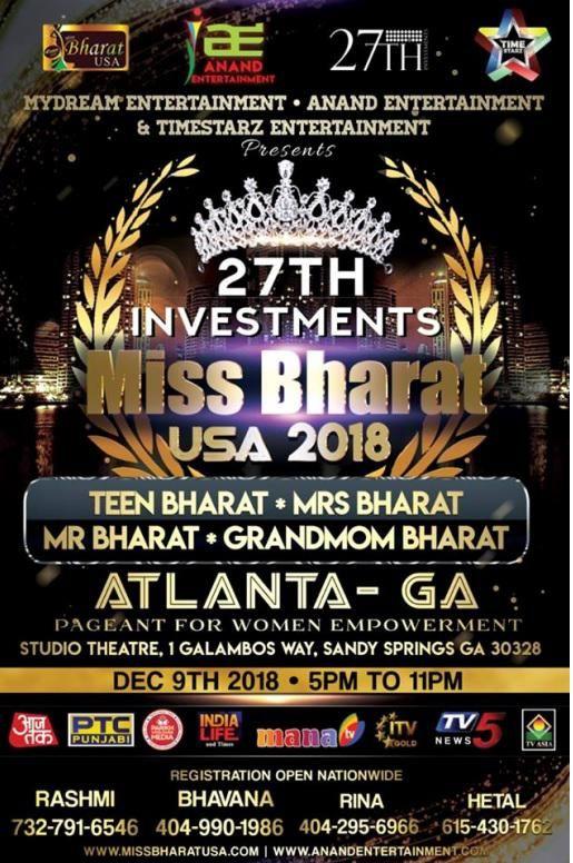 MISS BHARAT USA | MRS BHARAT USA | TEEN BHARAT USA 2018