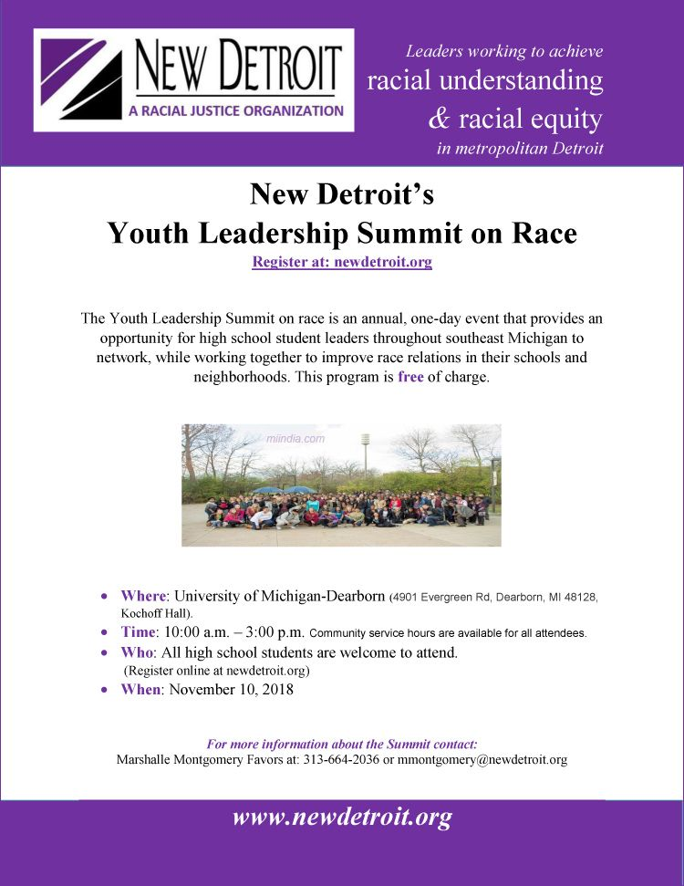 New Detroit's Youth Leadership Summit on Race