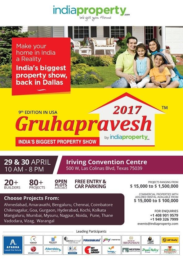 Gruhapravesh 2017 - India's Largest Property Show -Dallas
