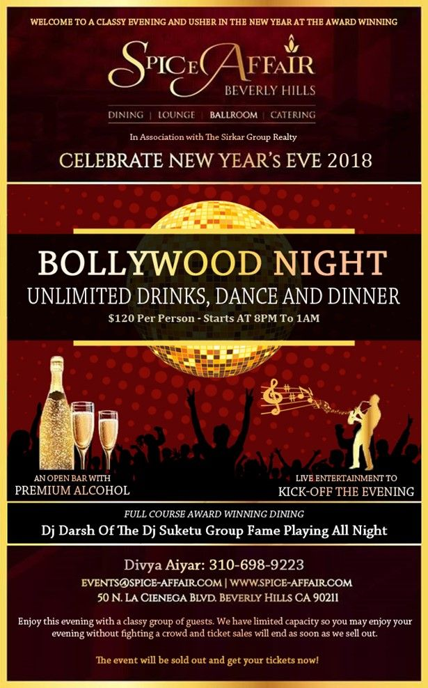 LA's Premiere New Year's Eve at SPICE AFFAIR in Beverly Hills