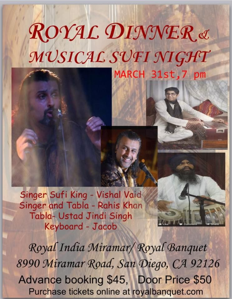 Royal Dinner and Musical Sufi Night