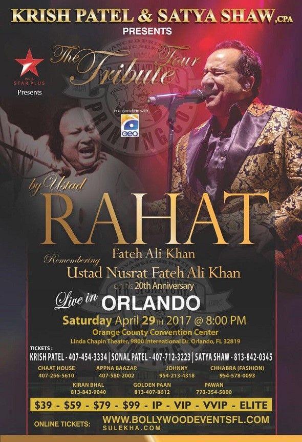 Rahat Fateh Ali Khan Remembering Ustad Nusrat Fateh Ali Khan - Orlando