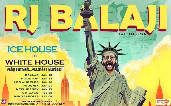 RJ Balaji Ice House to White House in Los Angeles