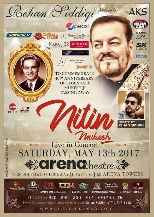 Nitin Mukesh Live in Concert - Houston