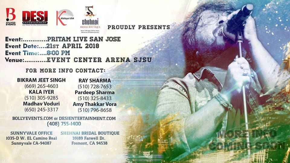 Pritam World Tour Live In Concert - Bay Area