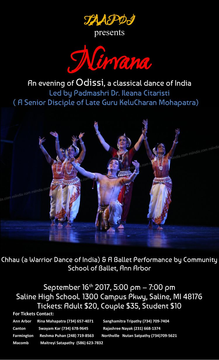 Taapoi presents Nirvana - An evening of Odissi, a classical dance of India