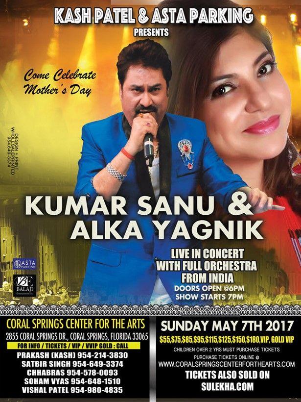 Kumar Sanu & Alka Yagnik in FL