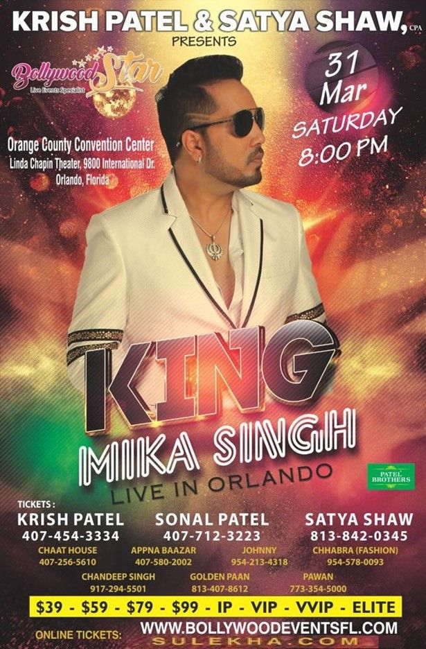 Mika Singh Live Concert in Orlando