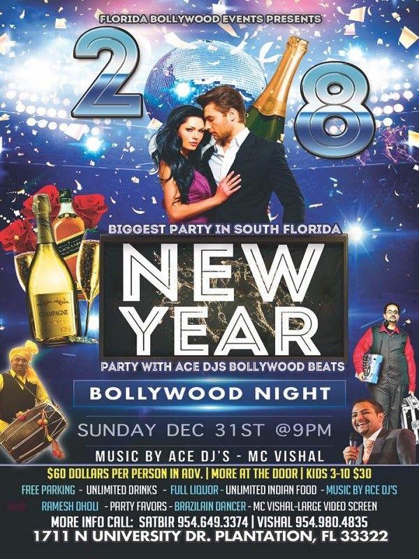 Biggest New Year 2018 - Bollywood Night