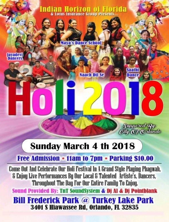 Orlando Holi Festival 2018