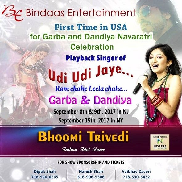 Navratri / Rass Garba celebration with Bhoomi trivedi - sep15th