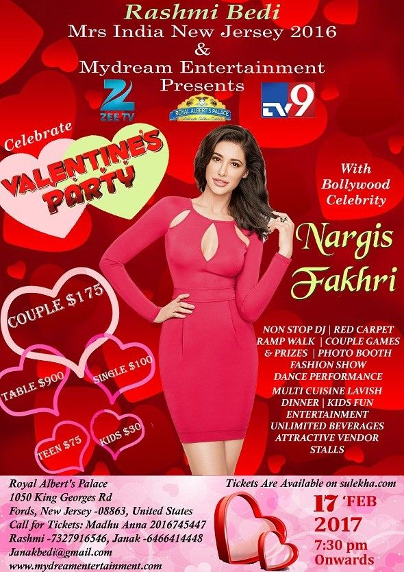 Valentine's Day Party With NARGIS FAKHRI