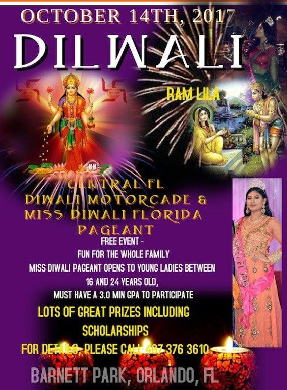 Diwali Motorcade & Miss Diwali Florida Pageant 2017