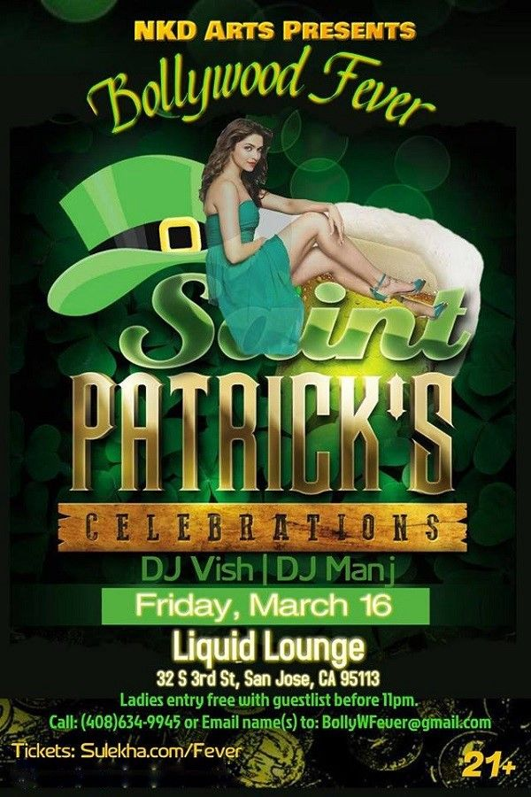 Bollywood Fever - St. Patrick's Celebration - Friday March 16