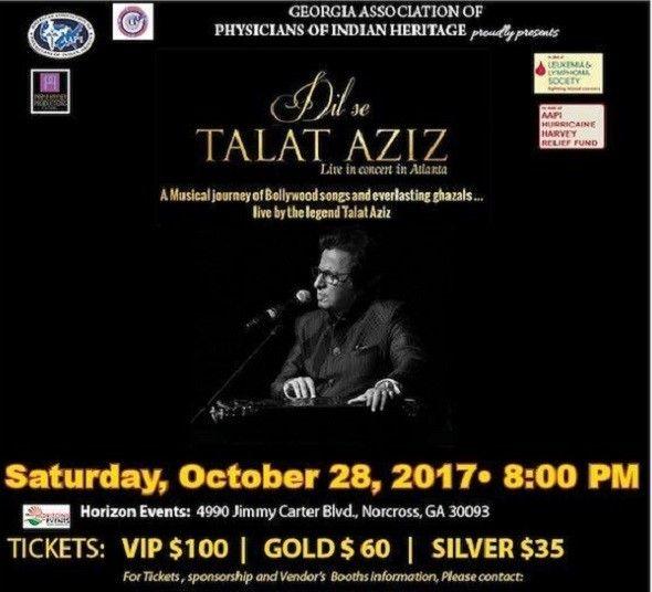 Talat Aziz Ghazal Live in Concert, Atlanta