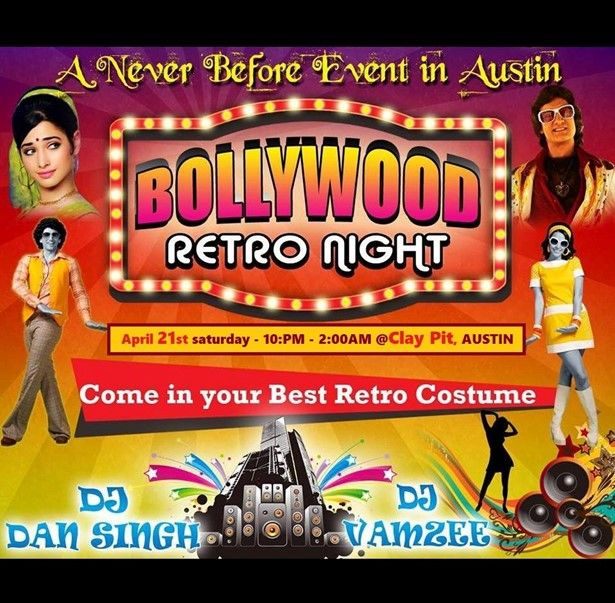 Bollywood Retro Night [ThemeParty RetroOutfit 80's-90's music]