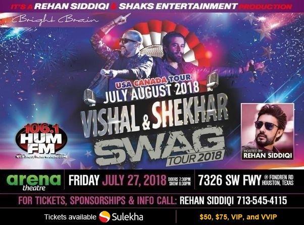 Vishal-Shekhar Live in Concert: Swag Tour 2018