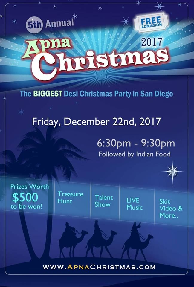 Apna Christmas (5th Annual) - Biggest Desi Christmas Party!