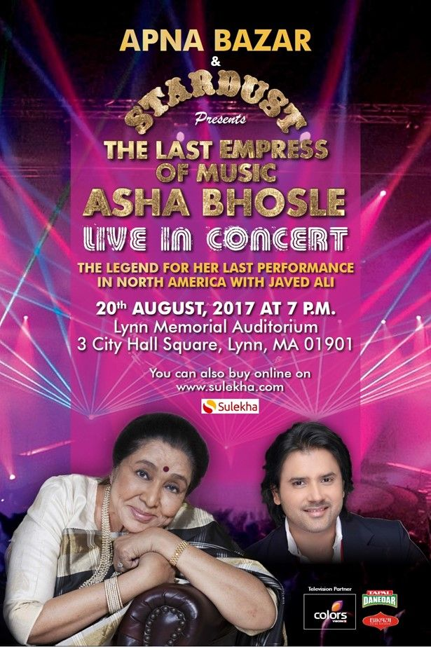 Asha Bhosle & Javed Ali Live In Concert – Boston
