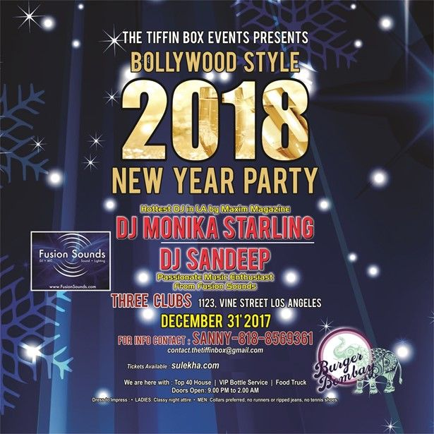 Bollywood Style 2018 New Year Party