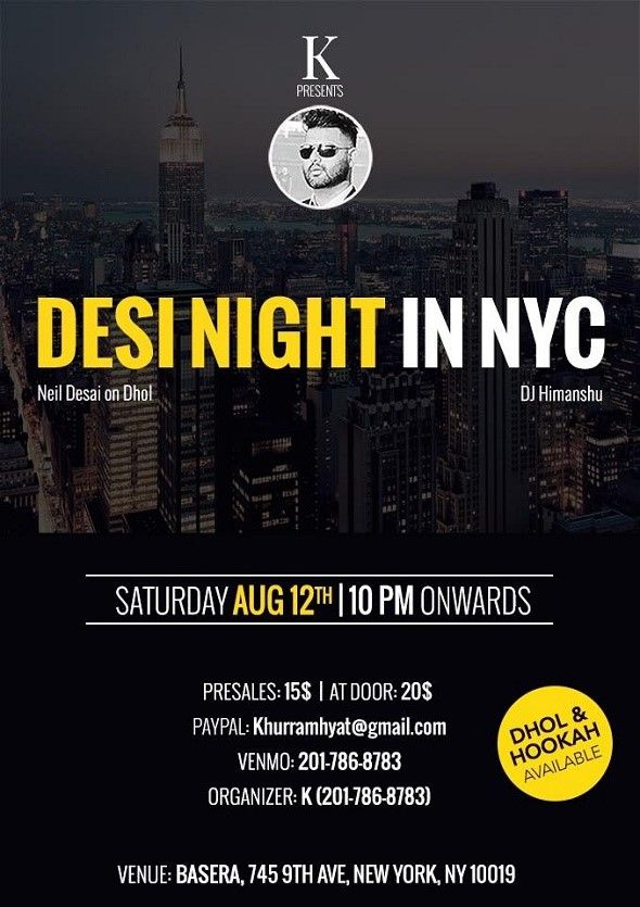 Nyc Desi Night