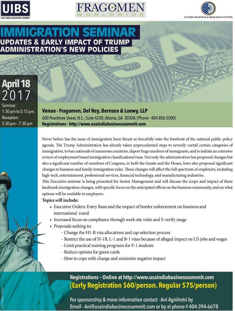 Immigration Seminar-Trump's New Policies in Fragemon, Del ...