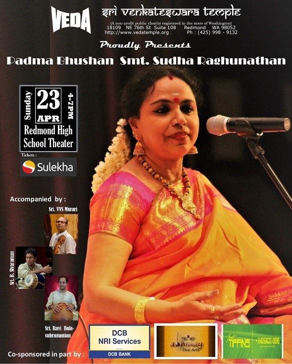 Padma Bhushan Smt. Sudha Raghunathan Concert