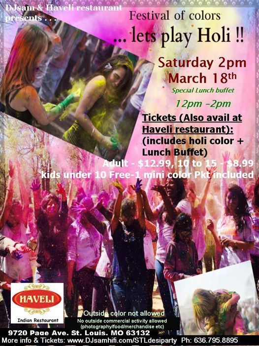 Holi Color Fun(Haveli) - Lunch Buffet included
