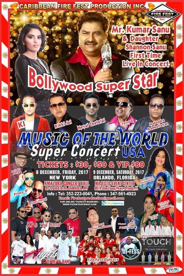 Music of the World Super Concert USA---featuring Kumar Sanu