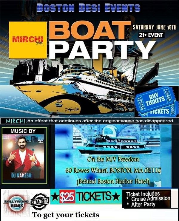 Mirchi Boat Party !!! Bollywood/ Bhangra/ Remixes
