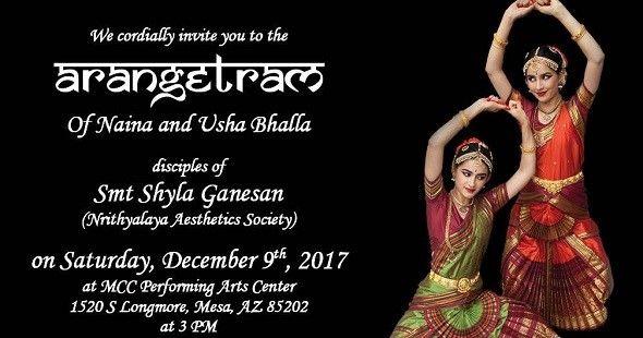 Arangetram of Bhalla Sisters