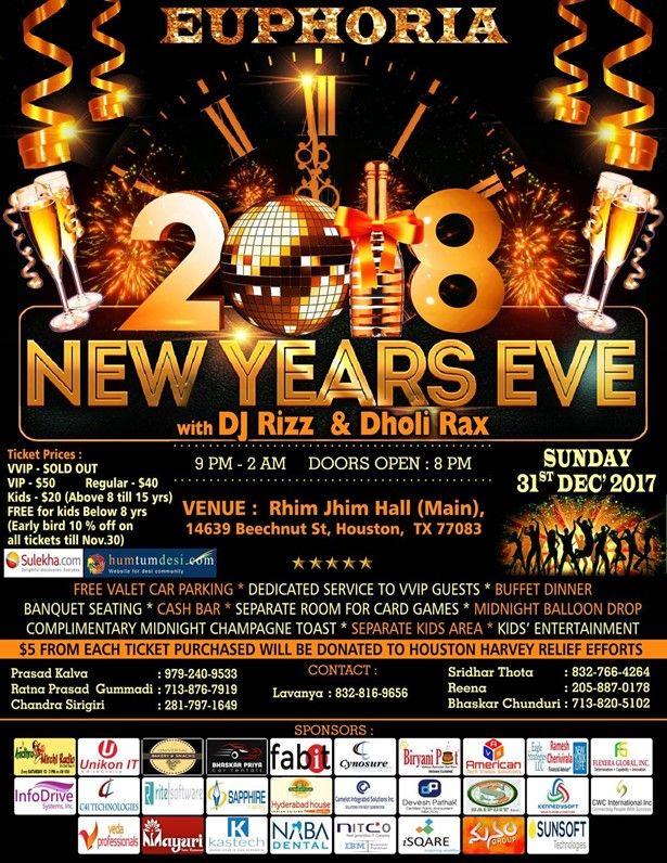 Euphoria 2018 New Year Eve Party
