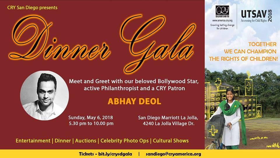 CRY Utsav - San Diego Banquet 2018