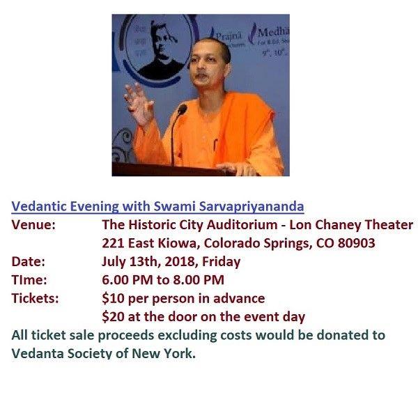 Vedantic Evening with Swami Sarvapriyananda