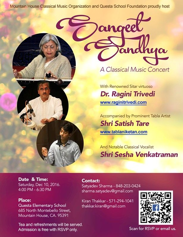 Sangeet sandhya indian classical music concert in questa for Orchestral house music