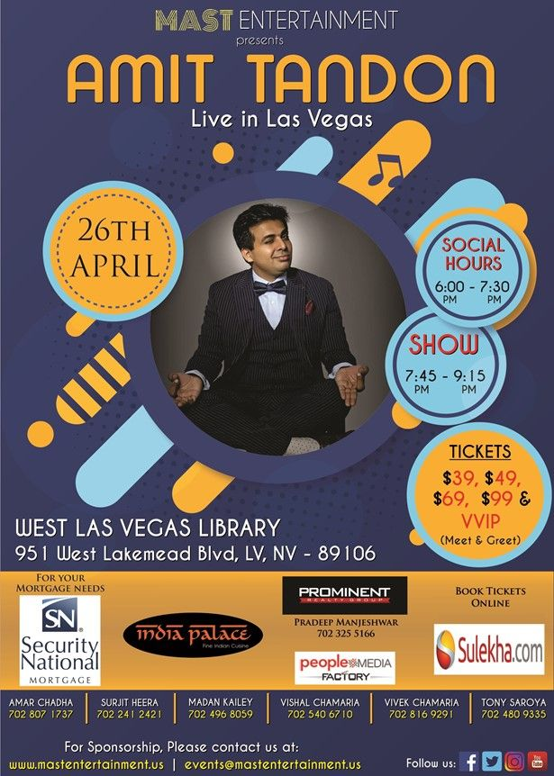 Amit Tandon Stand Up Live in Las Vegas