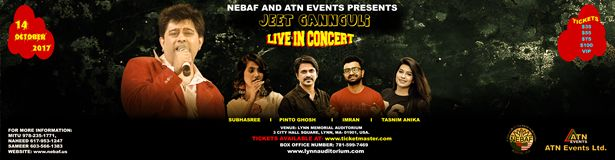 Jeet Ganguli Live In Concert - Presented by NEBAF and ATN Events