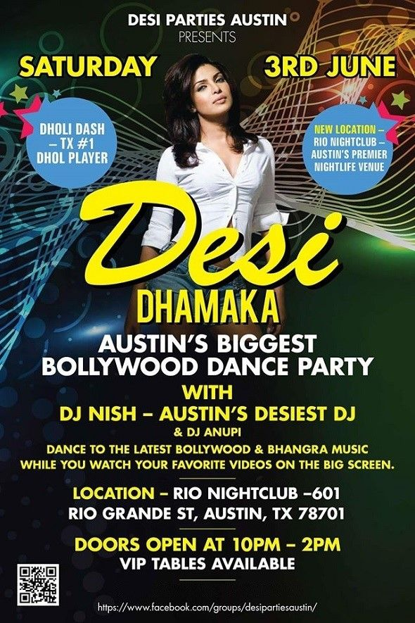 Desi Dhamaka - Biggest Bollywood Dance Party in Austin