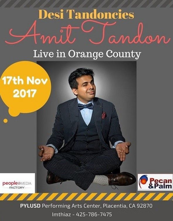 Amit Tandon Live Stand-Up in Orange County