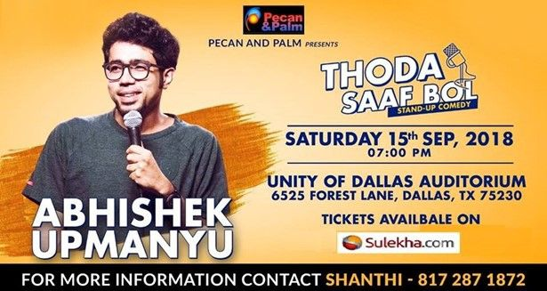 Abhishek Upmanyu - Stand-up Comedy Live in Dallas