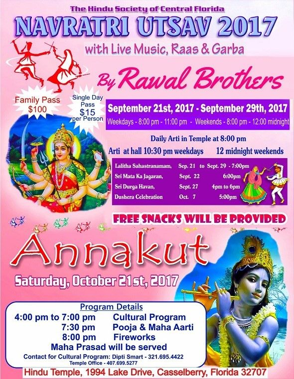 Navratri Utsav 2017 with Live Music